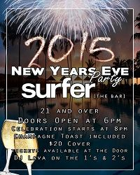 Surf, the Bar. New Years Eve