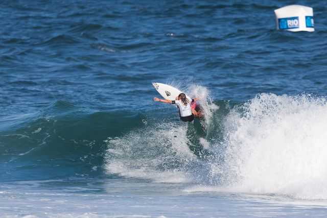 "BARRA DA TIJUCA, Rio de Janeiro/Brazil (Tuesday, May 12, 2015) – Keely Andre of Sunshine Coast, Australia (pictured) winning her Round 1 heat at the Oi Rio Pro in Barra De Tijuca, Rio, Brasil.   IMAGE CREDIT: © WSL / Smorigo PHOTOGRAPHER: Daniel Smorigo SOCIAL MEDIA TAG: @wsl @danielsmorigo   The images attached or accessed by link within this email (""Images"") are provided by the Association of Surfing Professionals LLC (""World Surf League""). All Images are royalty-free but for editorial use only. No commercial rights are granted to the Images in any way. The Images are provided on an ""as is"" basis and no warranty is provided for use of a particular purpose. Rights to individuals within the Images are not provided. The copyright is owned by World Surf League. Sale or license of the Images are prohibited. ALL RIGHTS RESERVED."