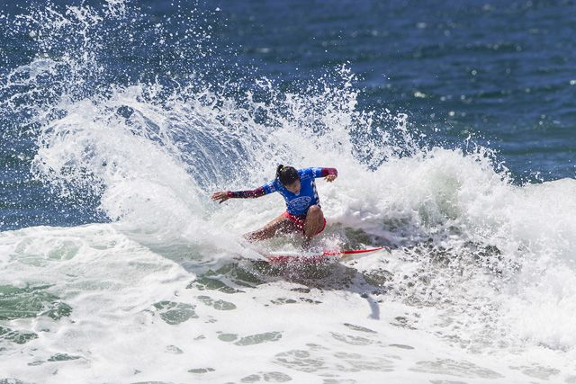 HUNTINGTON BEACH, CA, USA - Thursday July 30th 2015 -  Silvana Lima (BRA) finished equal 5th at the Vans US Open of Surfing today.  Image: © WSL/Rowland Photographer: Rowland Social Media: @wsl @nomadshotelsc This Image is the Copyright of the World Surf League. It is for editorial use only. No commercial rights granted.