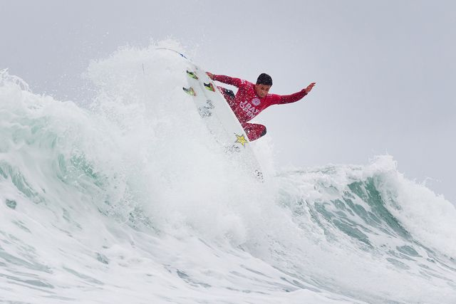 "JEFFREYS BAY, South Africa (Saturday, July 18, 2015) –   Keanu Asing of Hawaii (pictured) placing second his Round 4 heat at the JBay Open to advance into the Quarterfinals on Saturday July 18, 2015.  IMAGE CREDIT: WSL / Cestari PHOTOGRAPHER: Kelly Cestari SOCIAL MEDIA TAG: @wsl @kc80 The images attached or accessed by link within this email (""Images"") are the copyright of the Association of Surfing Professionals LLC (""World Surf League"") and are furnished to the recipients of this email for world-wide editorial publication in all media now known or hereafter created. All Images are royalty-free but for editorial use only. No commercial or other rights are granted to the Images in any way.  The photo content is an accurate rendering of what it depicts and has not been modified or augmented except for standard cropping and toning. The Images are provided on an ""as is"" basis and no warranty is provided for use of a particular purpose. Rights to an individual within an Image are not provided. Sale or license of the Images is prohibited. ALL RIGHTS RESERVED."
