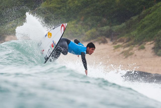 "JEFFREYS BAY, South Africa (Saturday, July 18, 2015) –   Gabriel Medina of Maresias, Sao Paulo, Brazil (pictured)  winning his Round 4 heat at the JBay Open to advance into the Quarterfinals on Saturday July 18, 2015.  IMAGE CREDIT: WSL / Cestari PHOTOGRAPHER: Kelly Cestari SOCIAL MEDIA TAG: @wsl @kc80 The images attached or accessed by link within this email (""Images"") are the copyright of the Association of Surfing Professionals LLC (""World Surf League"") and are furnished to the recipients of this email for world-wide editorial publication in all media now known or hereafter created. All Images are royalty-free but for editorial use only. No commercial or other rights are granted to the Images in any way.  The photo content is an accurate rendering of what it depicts and has not been modified or augmented except for standard cropping and toning. The Images are provided on an ""as is"" basis and no warranty is provided for use of a particular purpose. Rights to an individual within an Image are not provided. Sale or license of the Images is prohibited. ALL RIGHTS RESERVED."