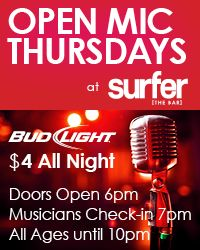Surfer the Bar - open mic
