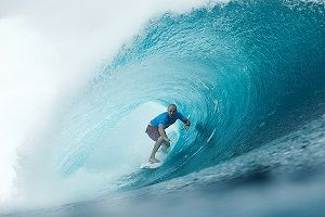 C.J. Hobgood of Melbourne, Florida, USA (pictured), winning in Round 2 of the Billabong Pro Tahiti with a heat total of 18.13 points (out of a possible 20.00) which included a near perfect 9.80 point ride (out of a possible 10.00) at Teahupoo today, 16 August 2015.IMAGE CREDIT: WSL / CestariPHOTOGRAPHER: Kelly CestariSOCIAL MEDIA TAG: @wsl @kc80