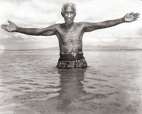 Duke Kahanamoku. Star-Bulletin photo by John Titchen. August 1967.