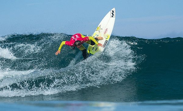Courtney Conlogue of the USA (pictured) dominated her Round 1 heat with a near perfect 8.00 point ride (out of ten) to advance into Round 3 of the Cascais Womens Pro in Portugal on Friday September 25, 2015.