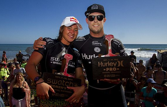 Carissa Moore (HAW) and Mick Fanning (AUS) are the 2015 Swatch Women's Pro and 2015 Hurley Pro Champions.
