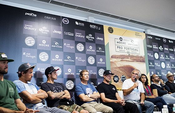 Mayor of Peniche during the Moche Pro Portugal Press Conference