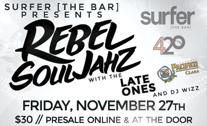 Surfer the Bar. Rebel Soljahs