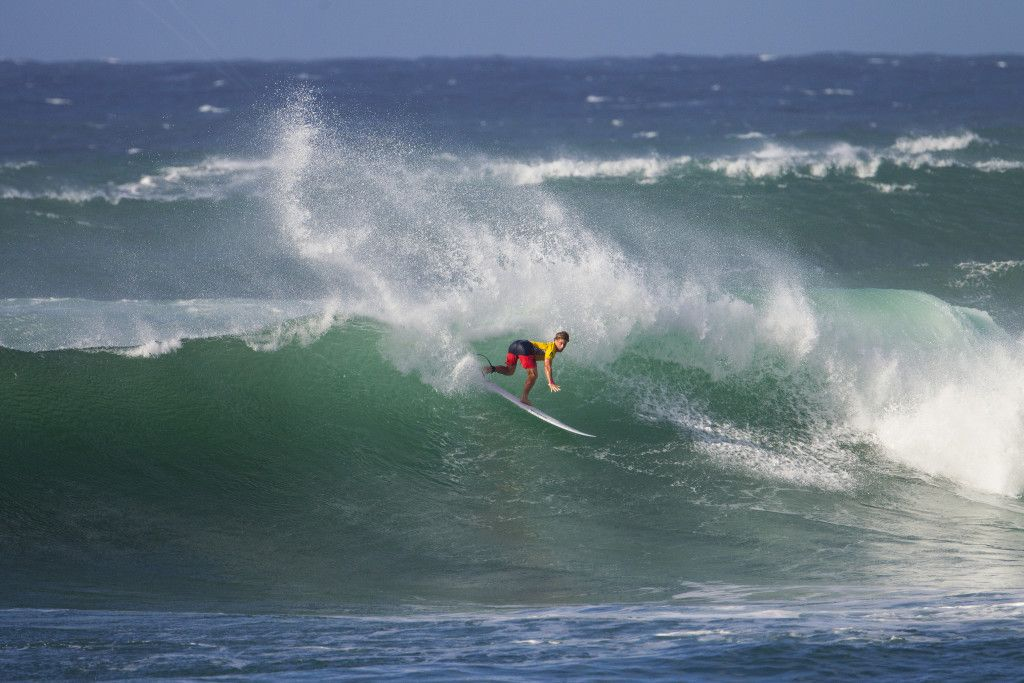 Benji Brand winning his ROund 2 heat.