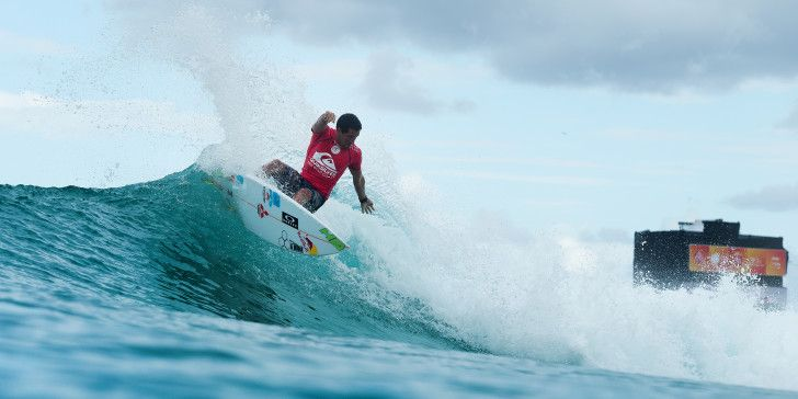Adriano de Souza placing equal third in the Quiksilver Pro Gold Coast.