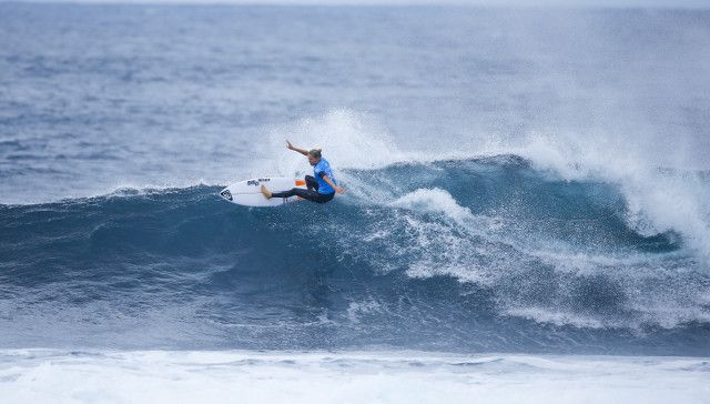 Stephanie Gilmore during round three at the Drug Aware Margaret River Pro in Western Australia.