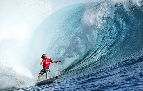Jordy Smith of South Africa (pictured) winning his round one heat at the Fiji Pro at Cloudbreak on Sunday June 5,2016.  PHOTO: © WSL/ Cestari SOCIAL: @kc80 This image is the copyright of  the World Surf League and is provided royalty free for editorial use only, in all media now known or hereafter created. No commercial rights granted. Sale or license of the images is prohibited. This image is a factually accurate rendering of what it depicts and has not been modified or augmented except for standard cropping and toning. ALL RIGHTS RESERVED.