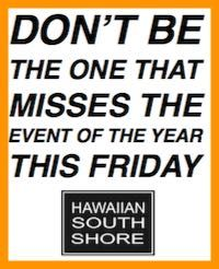 Hawaiian South shore.  Lost Found event