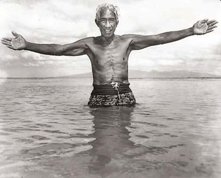 Duke Kahanamoku. Star-Bulletin photo by John Titchen. August 1967.