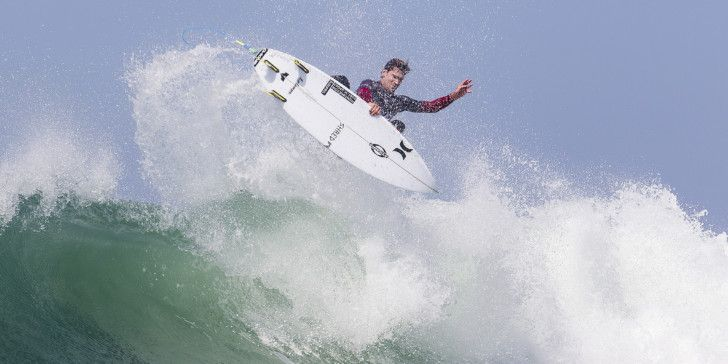 Brett Simpson surfing during Heat 6 of Round Three at The Hurely Pro Trestles