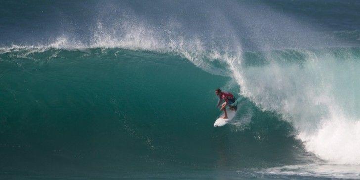 975472a65e Jack Robinson (AUS) pulls into a 10-point barrel ride at last year s HIC Pro