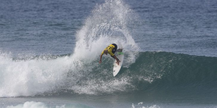 John John Florence during Round 3 of the Rip Curl Pro Portugal.
