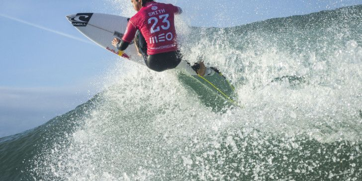 Jordy Smith (ZAF) Placed 1st in Heat 3 of Round One at Meo Rip Curl Pro Portugal