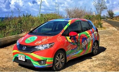 Green Tea Hawaii Logo Car 410×250