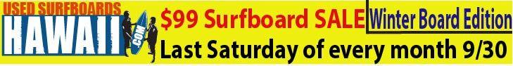 Used Surfboards HI. Sale 9.30.17