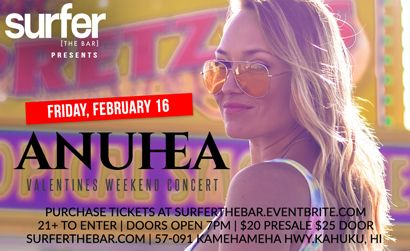 Surfer the Bar Anuhea 2.16.18