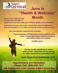 Upper Cervical Consultation June Health Month