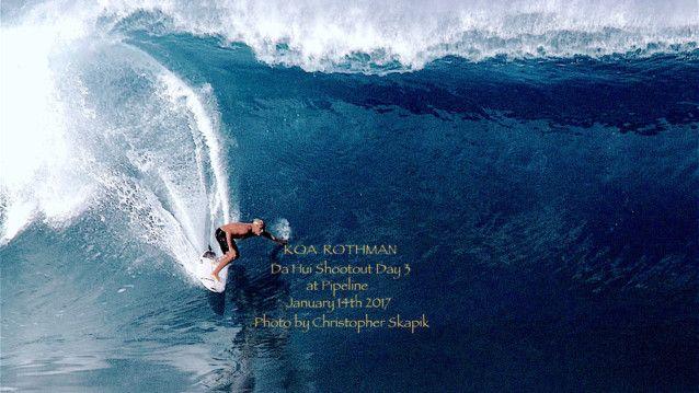 Koa Rothman at Pipeline Da Hui